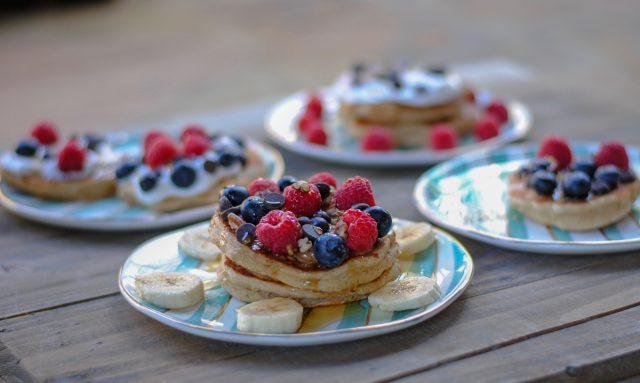 Tasty gluten free pancake recipe + how to make a breakfast board