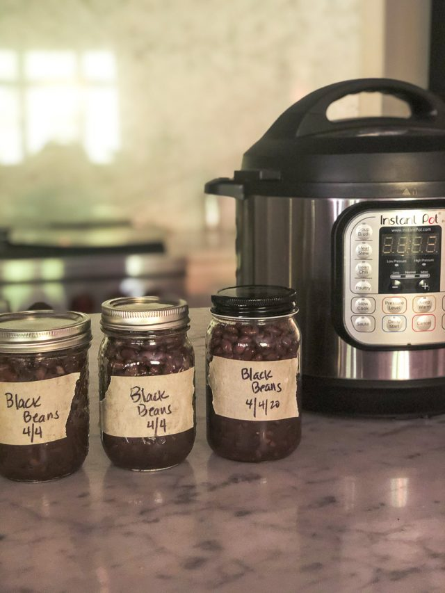 how to make black beans in the instant pot