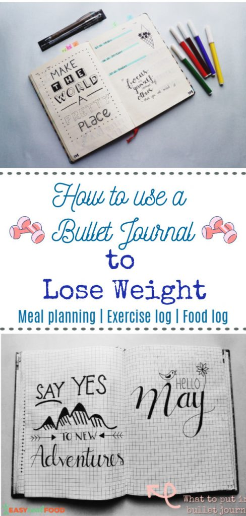 How to use a bullet journal for weight loss - #bulletjournal