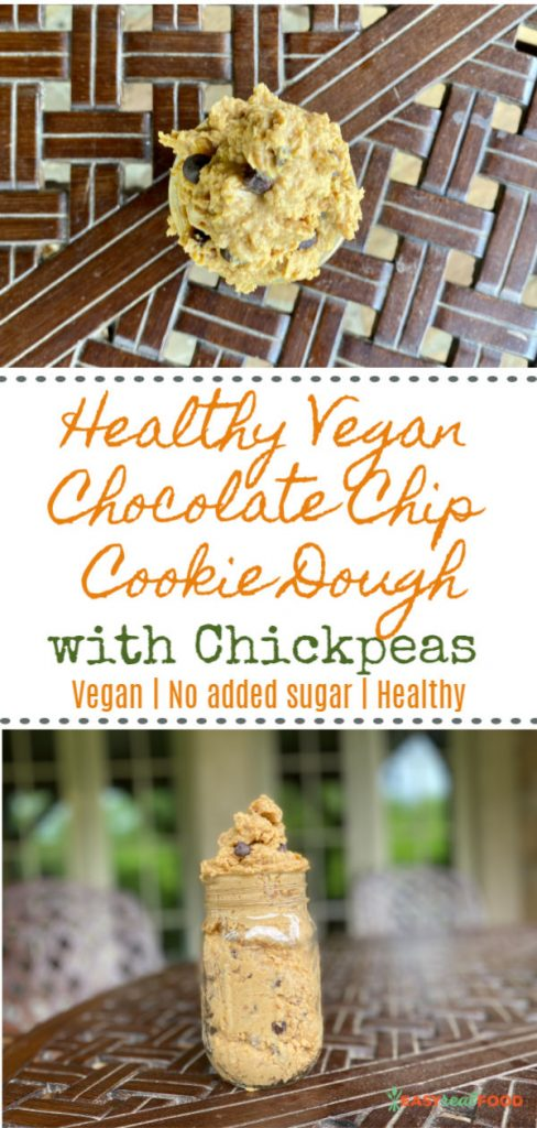 Healthy Vegan Chocolate Chip Cookie Dough (with Chickpeas)