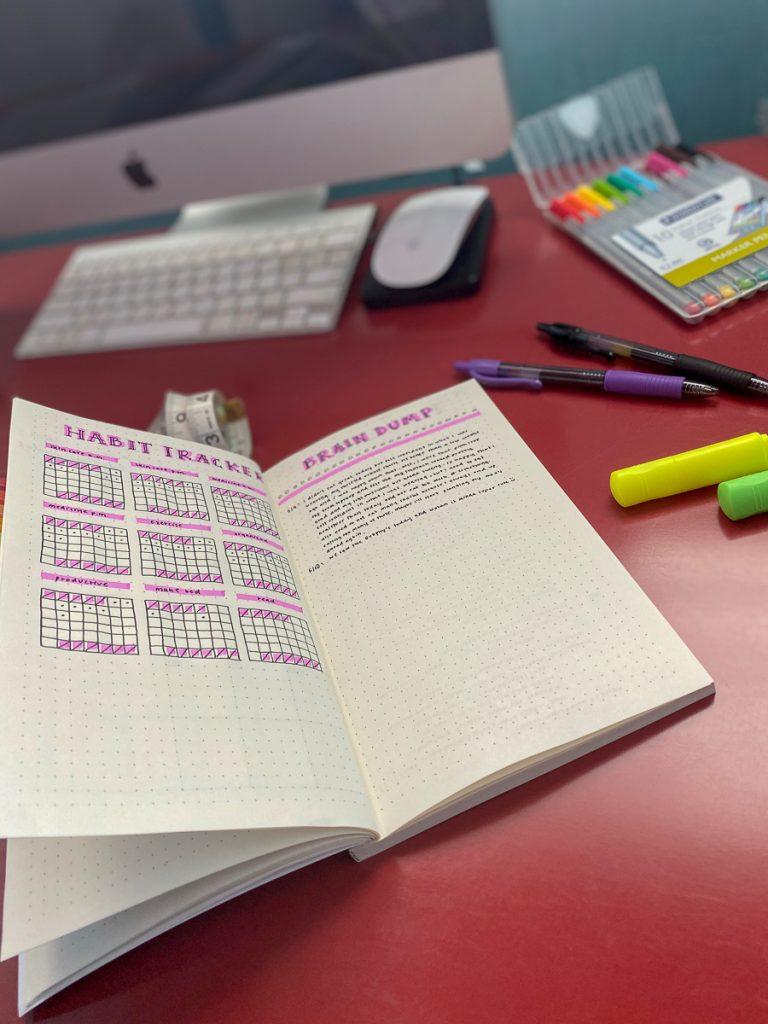 using a bullet journal for weight loss #bulletjournal
