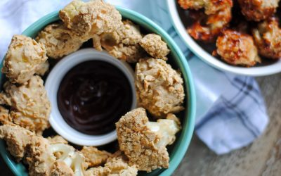 Baked Vegan Breaded Cauliflower (GF, Egg-free)