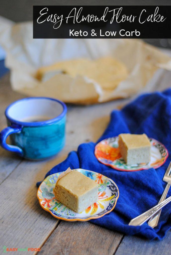 Delicious easy almond flour keto cake