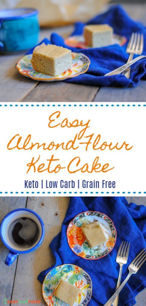 Easy Almond Flour Cake (Keto + Low Carb)