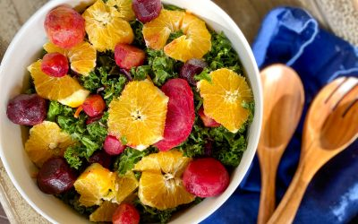 Roasted Beet and Orange Kale Salad (Vegan)