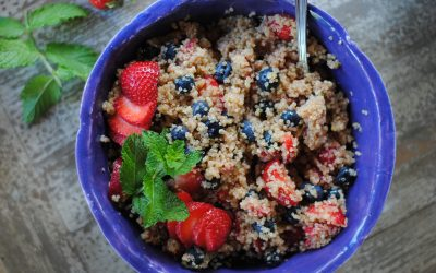 Quinoa Salad with Blueberries and Strawberries