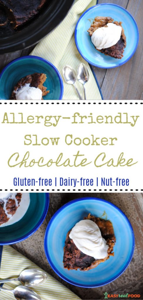 allergy-friendly slow cooker chocolate cake (gf, df, nut-free)