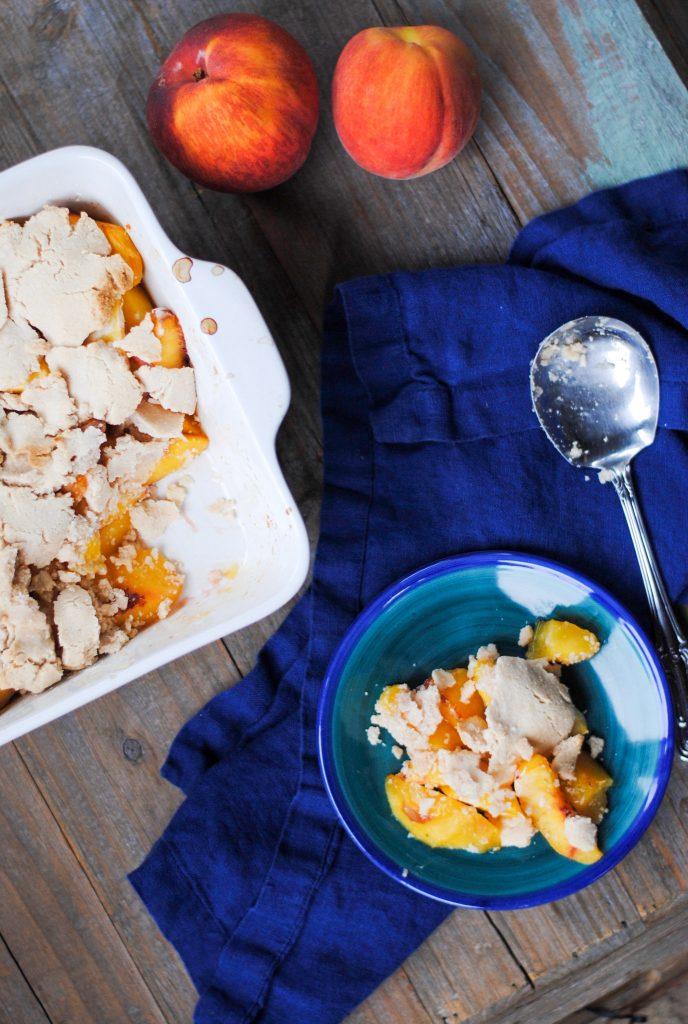 paleo peach cobbler - gluten free, grain free and aip friendly