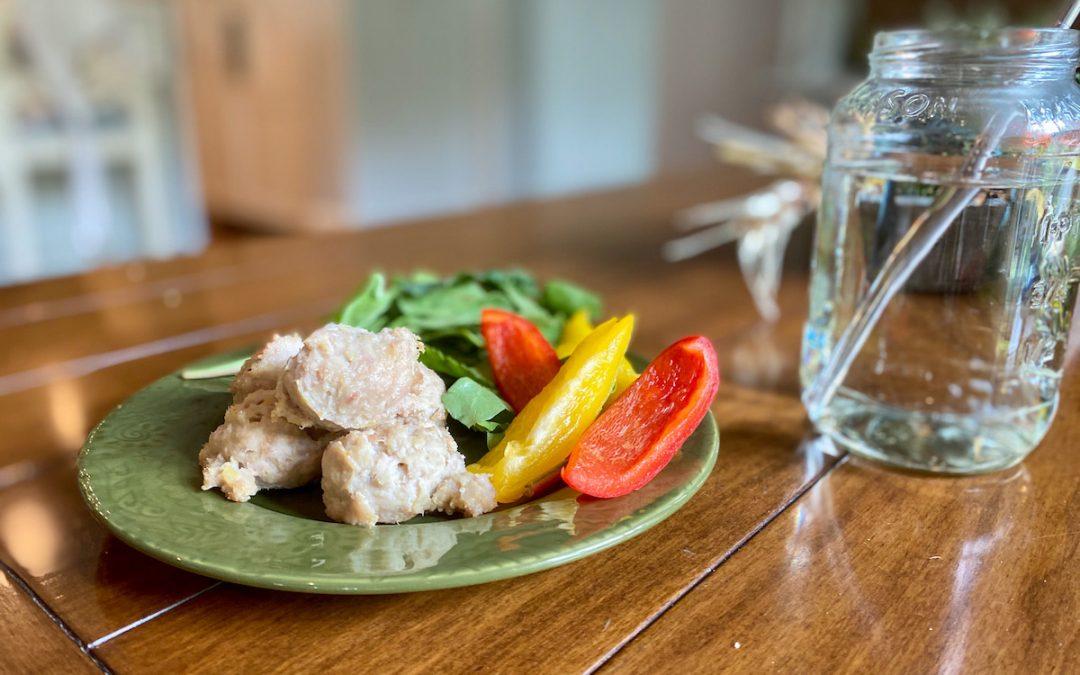 5 Ingredient Paleo Turkey Meatballs with Sweet Potato