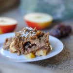Grain free apple crisp with homemade dairy free caramel