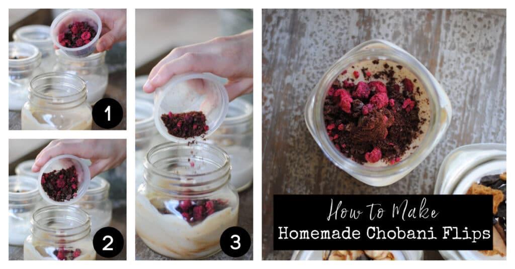 How to make homemade chobani flips