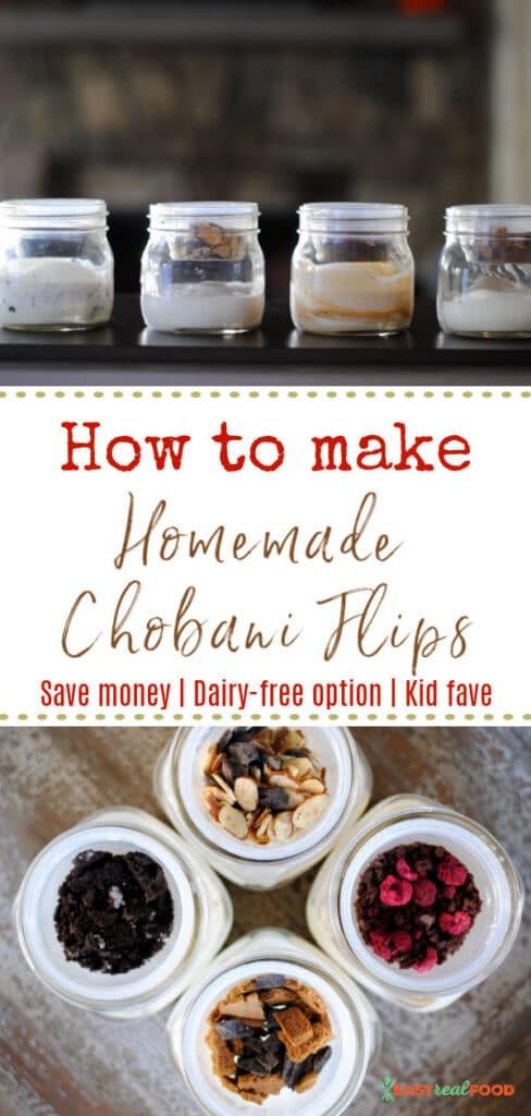 how to make diy chobani flips - save money, dairy-free option