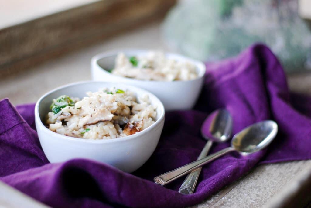 simple mushroom risotto