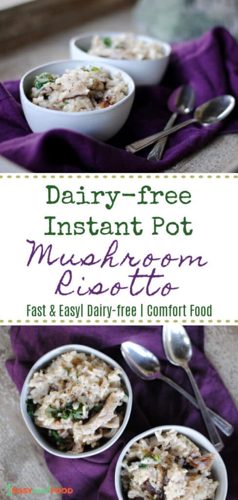 dairy-free instant pot mushroom risotto