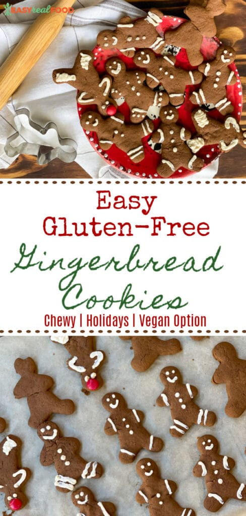 Easy Gluten-free Gingerbread Cookies with Vegan Options