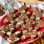 Fully decorated easy gluten free gingerbread cookies