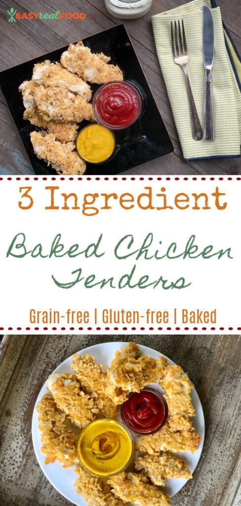 3 ingredient baked chicken tender recipe - grain-free