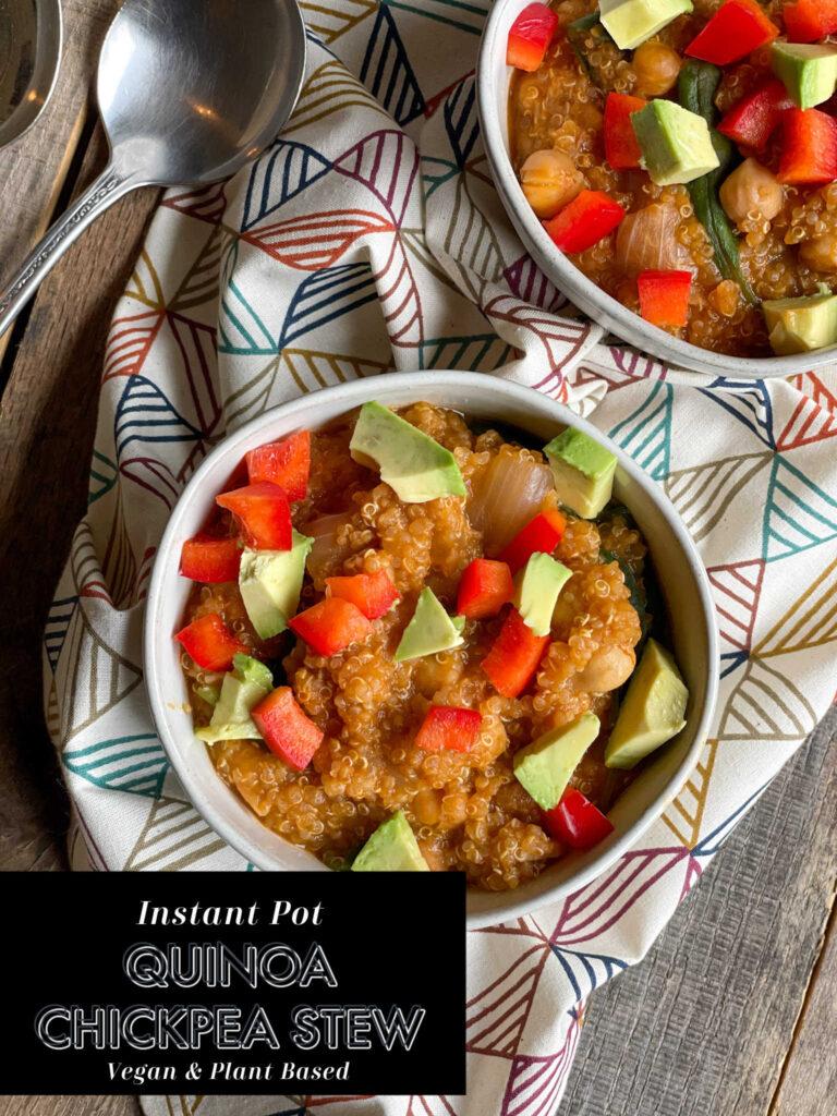 Instant Pot Quinoa Chickpea Stew
