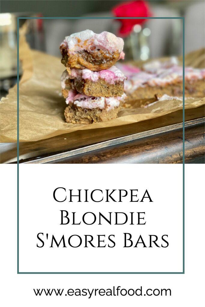 Chickpea Blondie S'mores Bars - vegan and #grainfree