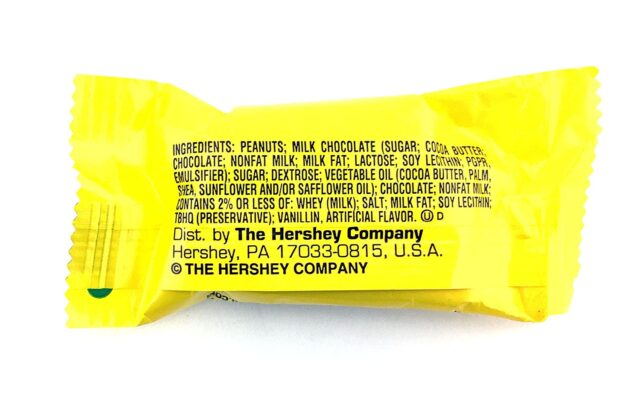 ingredients in a reese's peanut butter egg
