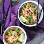 simple pad thai - no peanuts! served with chopsticks