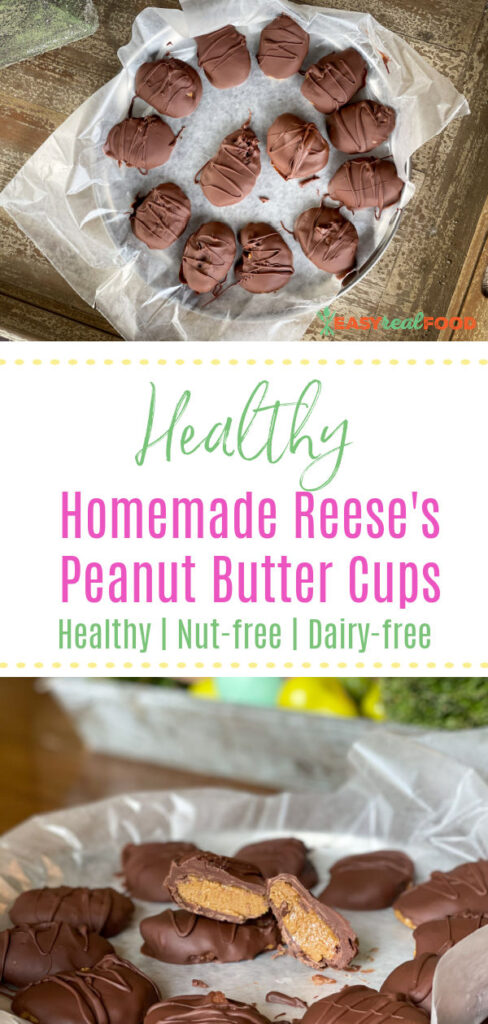 healthy homemade reese's peanut butter cups (nut-free)