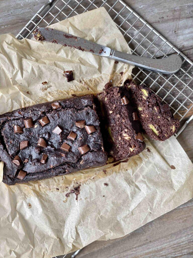 delicious grain free avocado chocolate bread