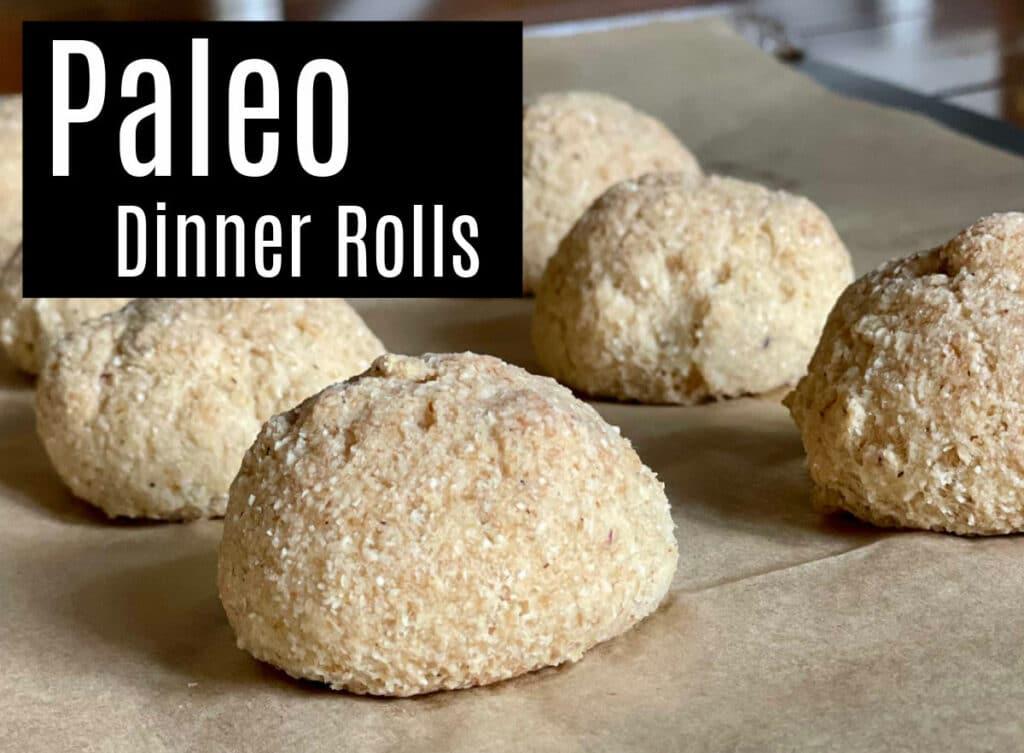 paleo dinner rolls - grain-free and vegan and minimal ingredients