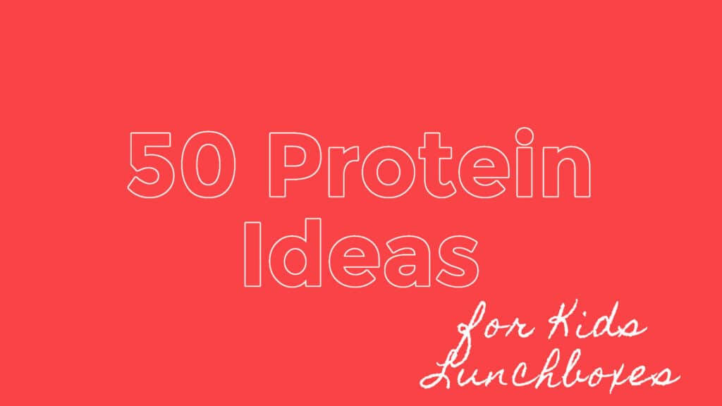 50 protein ideas for school lunches
