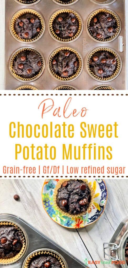 grain free chocolate sweet potato muffins